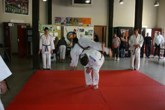 27 forum 2009 - démonstration de judo - les chutes (amorties)
