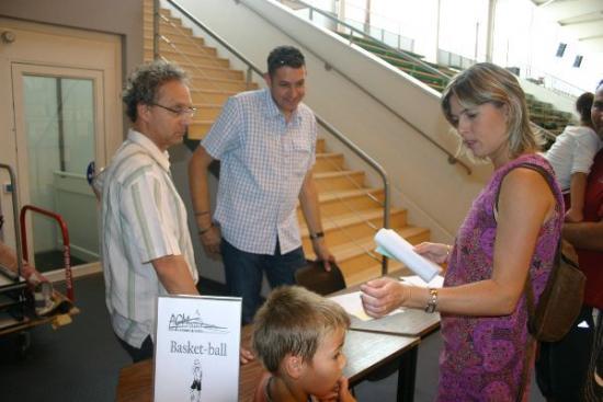 46 forum 2009 - AGM Basket : Richard et Philippe aux explications : alors, tu t'inscris ?