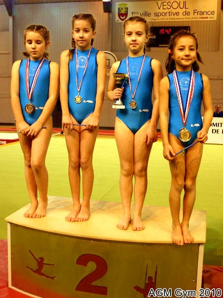 AGM Gym Camille Caerou, Clara Lamboley, Anouk Cannet, Océane Jourdy