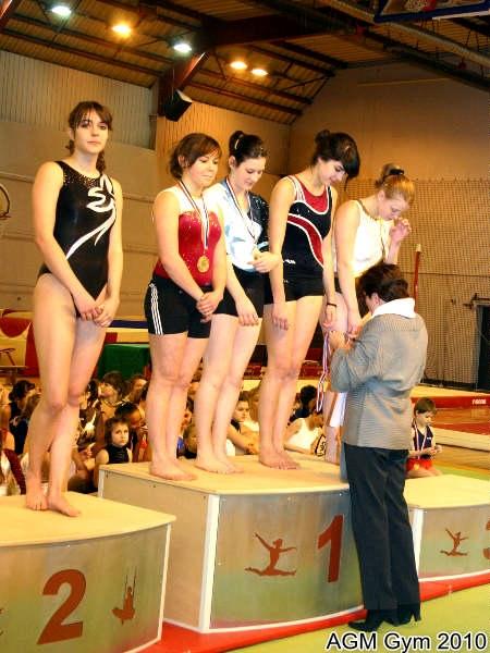 AGM Gym Mégane Raclot, Coline Billery, Camille Lapprand Justine Michel, toutes championnes dans leur