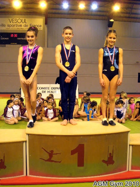 AGM Gym triplé de champions Elisa Chambre, Marvin Tresse, Yuliya Novyk