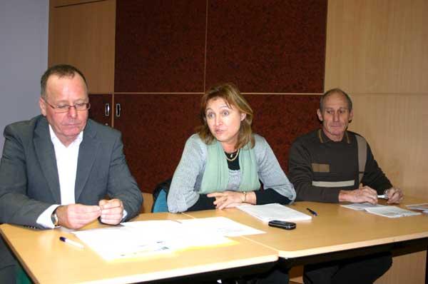 Alain Bailly (service Cohésion Sociale) , Chantal Petitot (directrice DDCSPP), François Chatelet (CD