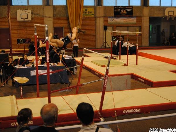 Chaumont 2010_010: passage acrobatique d'Ophélie de la barre basse à la haute
