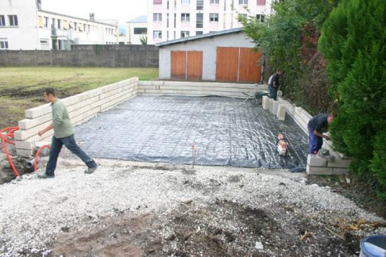 Construction du garage 03