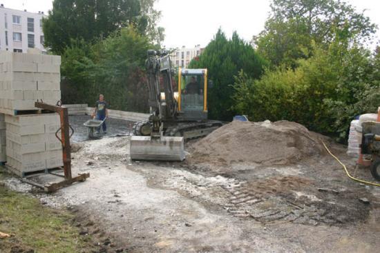 Construction du garage 08