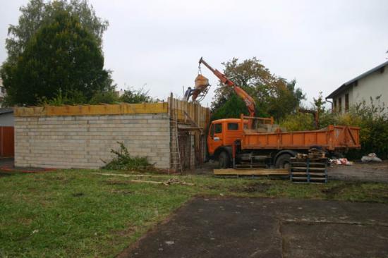 Construction du garage 14