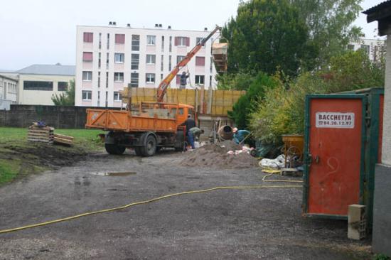 Construction du garage 15