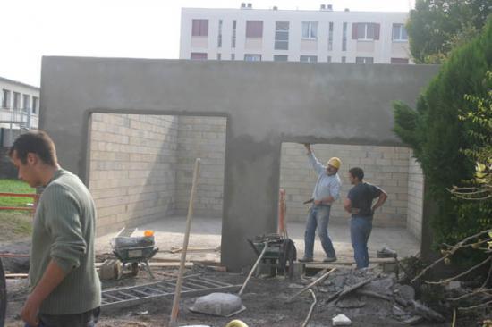 Construction du garage 16