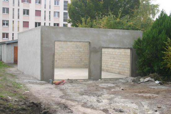 Construction du garage 20