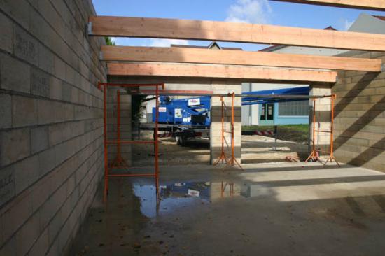 Construction du garage 24