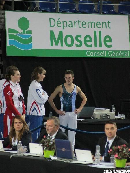 Félicio et son entraîneur Christine Blaise avant les qualif