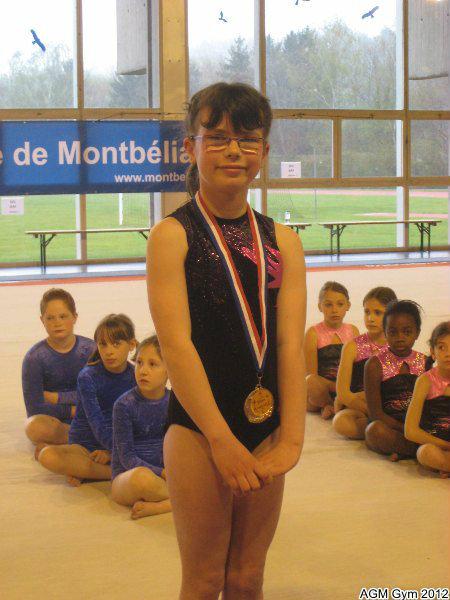 Floriane, seule médaillées du week end