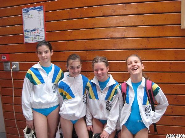 Justine, Elisa, Krystal et Yuliya : équipe minimes criterium