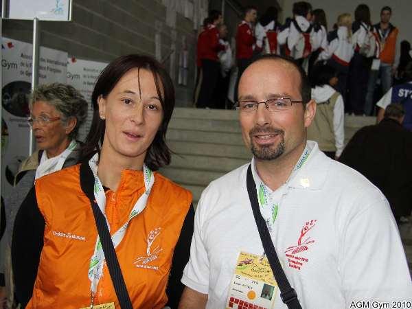 Nath et Didier bénévoles