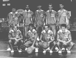 L'équipe d'AGM Basket de Vesoul en 1990