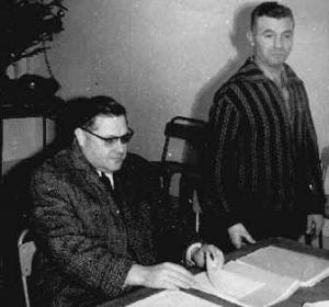 Le Dr Guillet et ''JoJo'' Lasnier.