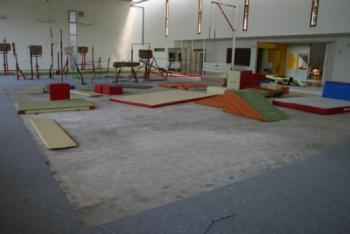 La salle de gym inondée