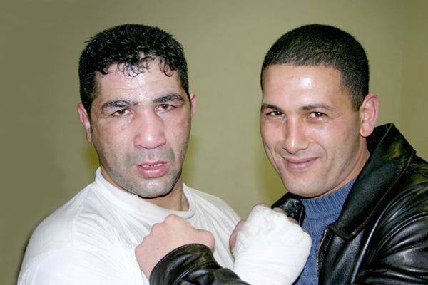 Morrad Hakkar et Mimoun en fevrier 2004