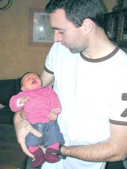 Ninon et son papa Olivier